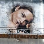 Efecto pintando en el muro