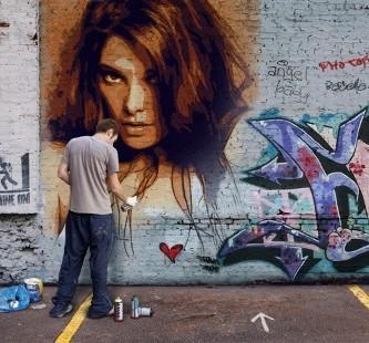 efectos de graffitis