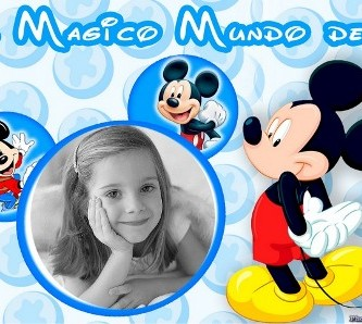 decorar fotos con marcos de disney