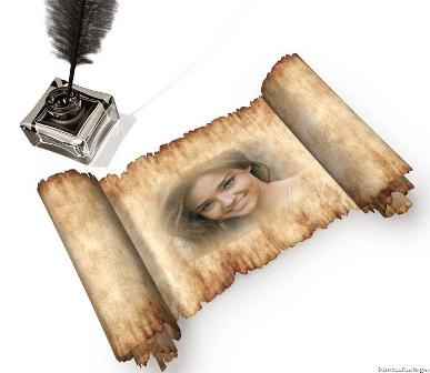 Efectos para fotos en pergamino editar fotos gratis for Enmarcar fotos online