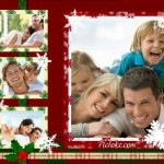 Decorar fotos navideñas para familia