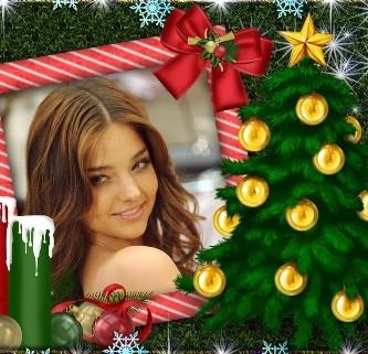 adornar fotos navideñas