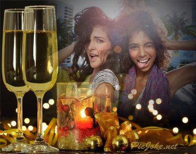 efectos fotos para año nuevo amigos