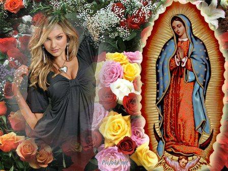 bello cuadro con virgen