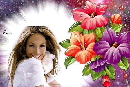 decorar imagen con flores
