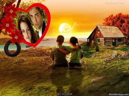 Editar fotos de amor en paisajes