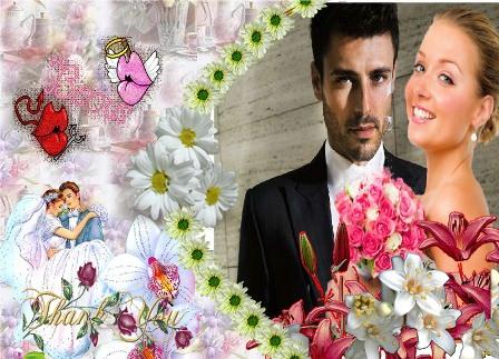 Decorar mis fotos con detalles matrimoniales | Editar Fotos Gratis