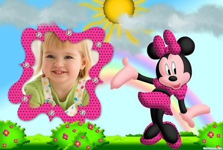 Editar fotos gratis le presenta una bella decoración con Minnie Mouse