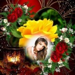 Decorar mis fotos con rosas
