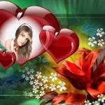Decorar fotos con adornos florales