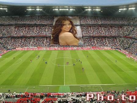 editar fotos en estadios de futbol
