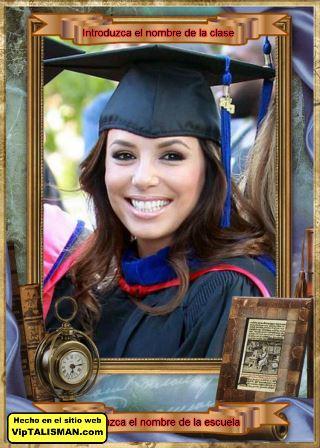 Editar fotos gratis con marcos de graduación | Editar Fotos Gratis