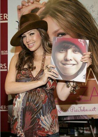 Editar fotos con Thalía