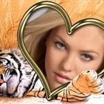 Editar fotos junto a un tigre