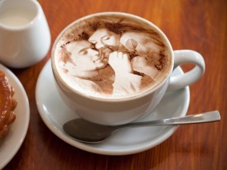 Efectos para fotos en cappuccino