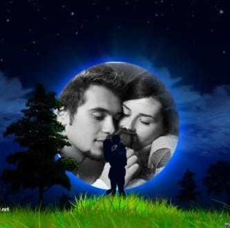 Editar  fotos de amor con la luna