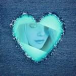Efectos para fotos en un corazón
