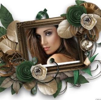 Editar fotos en un marco con rosas
