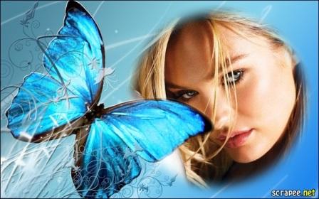 Editar fotos con una preciosa mariposa azul