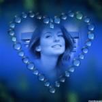 Editar fotos en un corazón azul