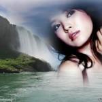 Editar fotos en una linda catarata
