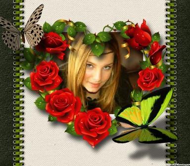 Efectos para fotos en un lindo corazón