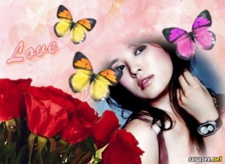 Editar fotos con un ramo de rosas