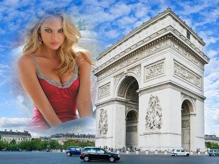 Editar fotos en el arco del triunfo de París