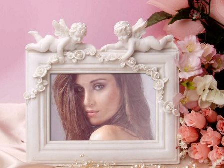 Editar fotos en un marco con ángeles