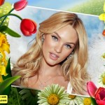 Editar fotos en un marco con varias flores