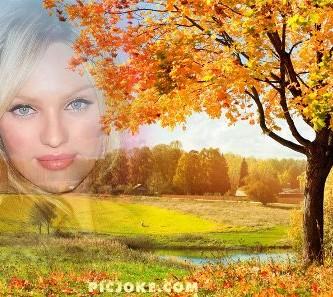 Editar fotos en un precioso paisaje de otoño
