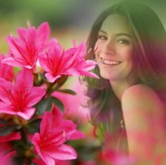 Editar fotos para chicas con  flores