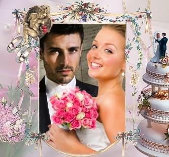 Editar foto gratis de matrimonio