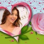 Editar fotos con flores y corazones